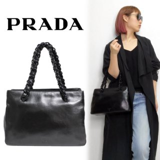 <img class='new_mark_img1' src='https://img.shop-pro.jp/img/new/icons14.gif' style='border:none;display:inline;margin:0px;padding:0px;width:auto;' />PRADA プラダ ヴィンテージ<br>プラスチックチェーンハンドバッグ