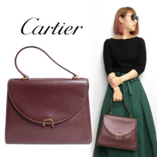 <img class='new_mark_img1' src='https://img.shop-pro.jp/img/new/icons14.gif' style='border:none;display:inline;margin:0px;padding:0px;width:auto;' />Cartier カルティエ ヴィンテージ<br>マストラインケリー型ハンドバッグ