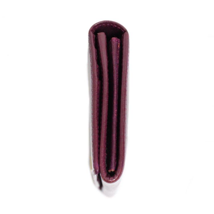 FENDI フェンディ ヴィンテージ<br>ロゴ×型押しレザー長財布 パープル