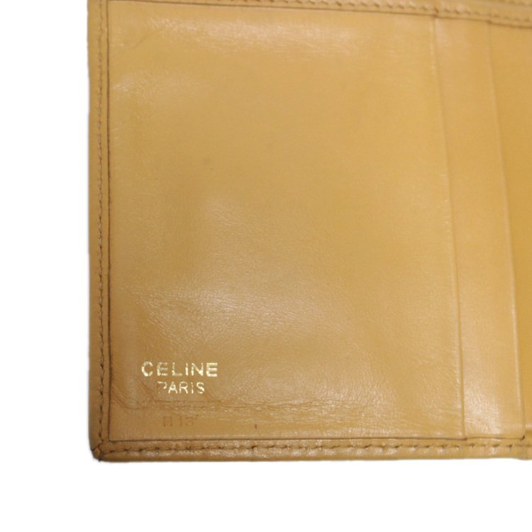 CELINE セリーヌ ヴィンテージ<br>マカダム柄コンパクト二つ折り財布