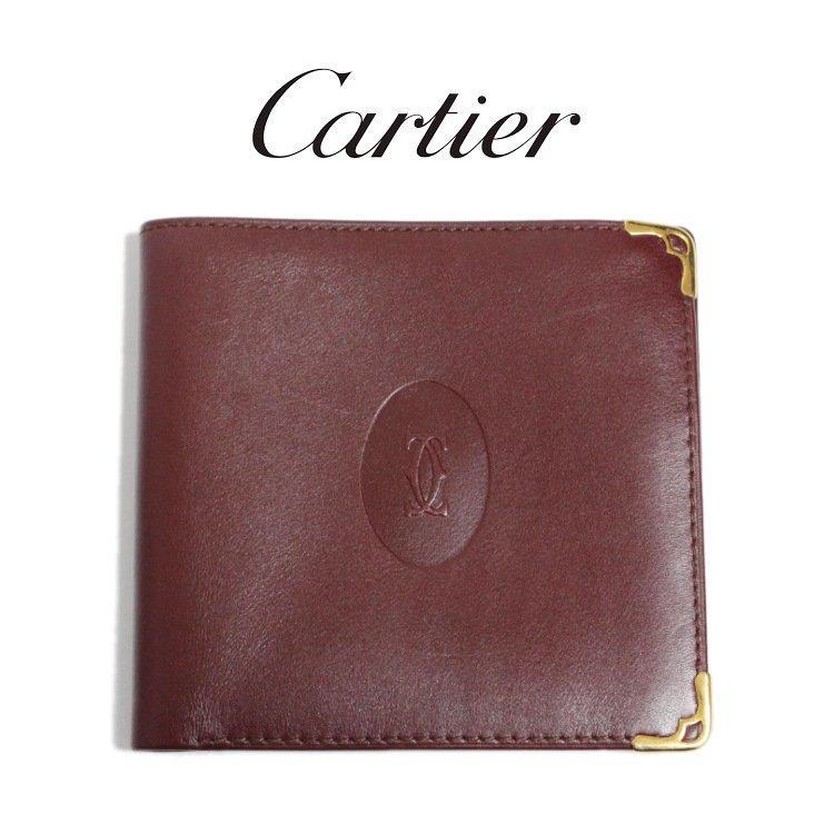 Cartier カルティエ ヴィンテージ<br>マストライン二つ折り札入れ
