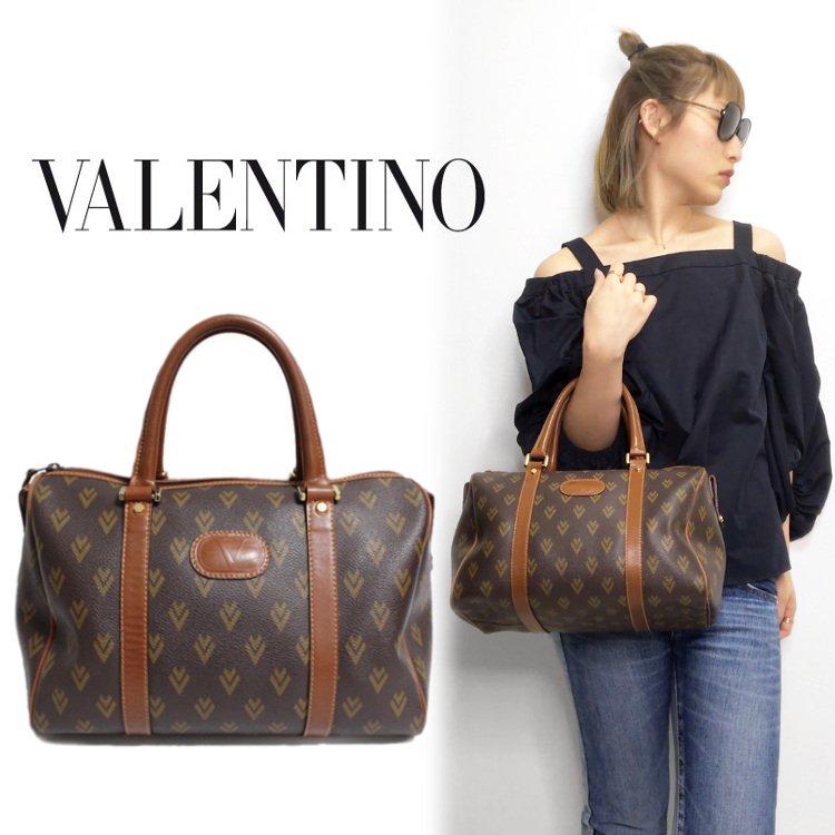 VALENTINO ヴァレンティノ ヴィンテージ<br>総柄ミニボストンバッグ