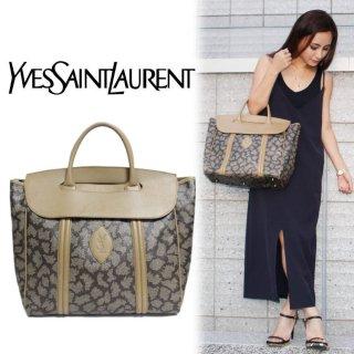 YSL イヴサンローラン ヴィンテージ<br>キリン柄ケリー型ハンドバッグ