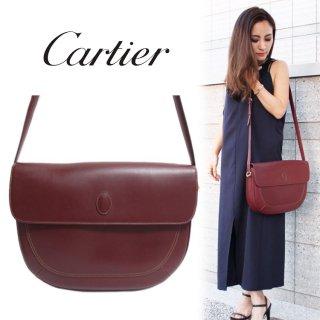 Cartier カルティエ ヴィンテージ<br>マストラインレザーショルダーバッグ