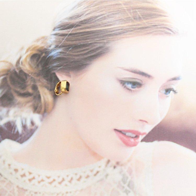Dior ディオール ヴィンテージ<br>カラーストーンスクエアイヤリング ブルー