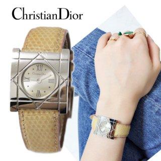 Dior ディオール ヴィンテージ<br>クールカレQZ腕時計 ベージュ
