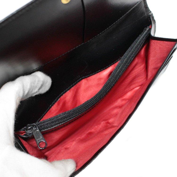 CELINE セリーヌ ヴィンテージ<br>フロント金具レザー長財布