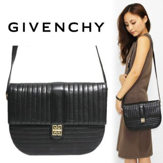 <img class='new_mark_img1' src='https://img.shop-pro.jp/img/new/icons14.gif' style='border:none;display:inline;margin:0px;padding:0px;width:auto;' />GIVENCHY ジバンシー ヴィンテージ<br>SACS ロゴ金具×ステッチショルダーバッグ ブラック