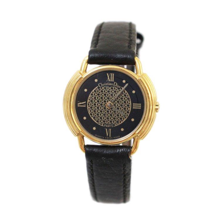 Dior ディオール ヴィンテージ<br>ロゴレザーベルトQZ腕時計