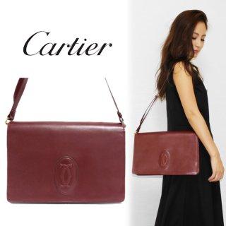 Cartier カルティエ ヴィンテージ<br>マストラインスクエアショルダーバッグ