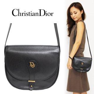 Dior ディオール ヴィンテージ<br>ロゴレザーショルダーバッグ