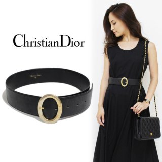 Dior ディオール ヴィンテージ<br>ウエストマークレザーベルト 70