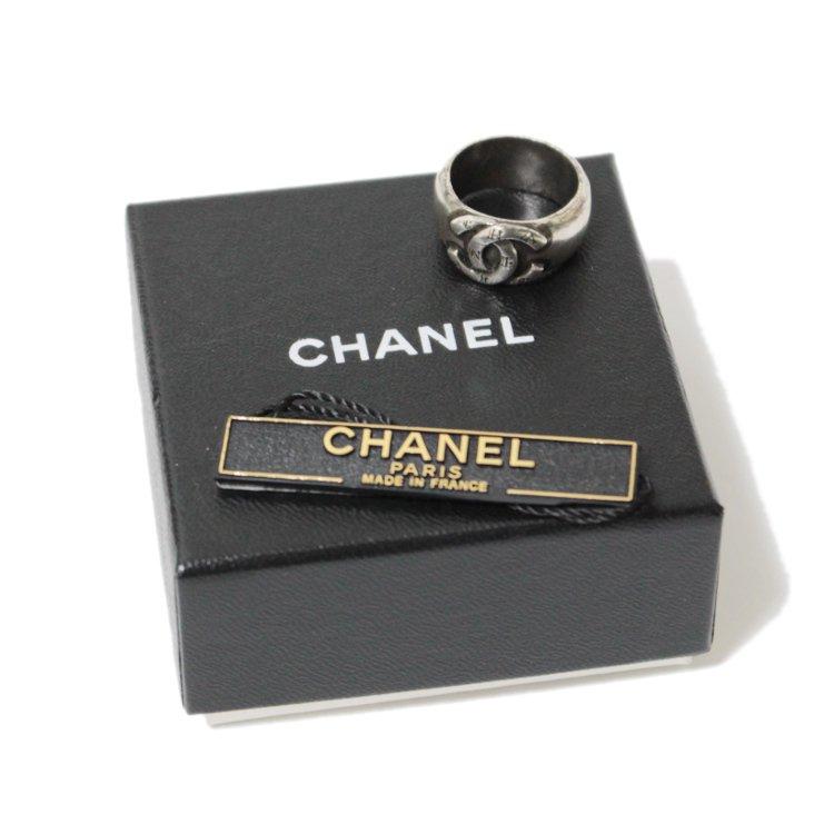 CHANEL シャネル ヴィンテージ<br>ココマーク×ロゴシルバーリング