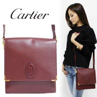 Cartier カルティエ ヴィンテージ<br>マストラインコンパクトスクエアショルダーバッグ