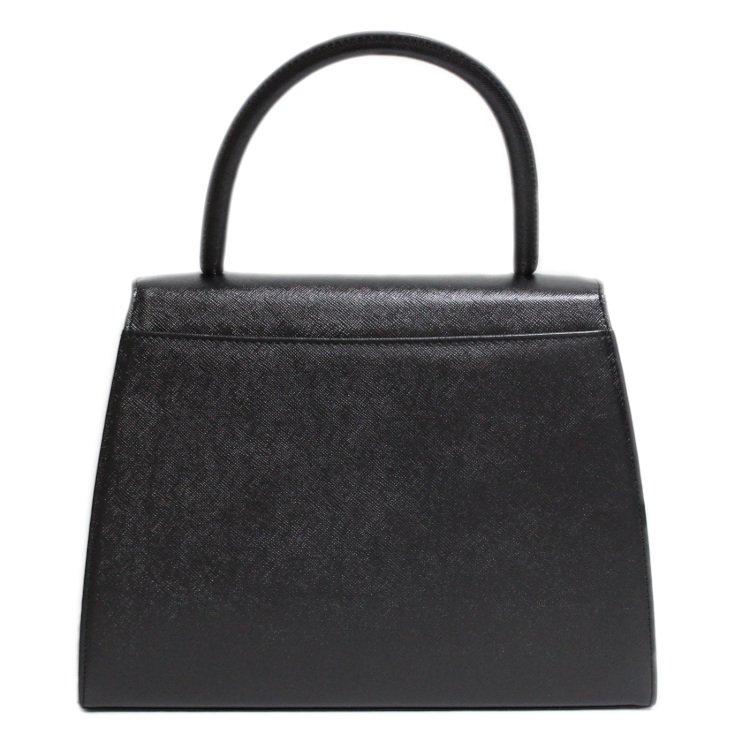YSL イヴサンローラン ヴィンテージ<br>ロゴケリー型ハンドバッグ
