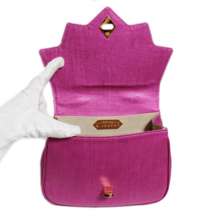 GIVENCHY ジバンシー ヴィンテージ<br>チャーム付ハンドバッグ ピンク