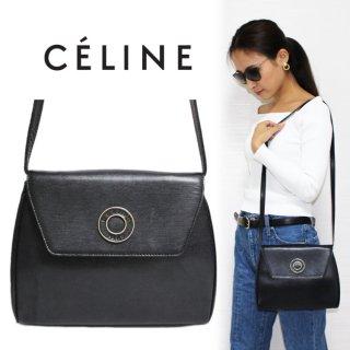 CELINE セリーヌ ヴィンテージ<br>サークル金具レザークラッチ/ショルダーバッグ