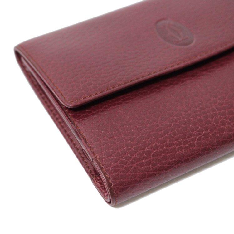 Cartier カルティエ ヴィンテージ<br>マストラインがま口三つ折り財布