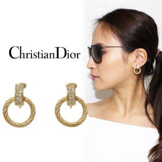 Dior ディオール ヴィンテージ<br>ラインストーン×リングイヤリング