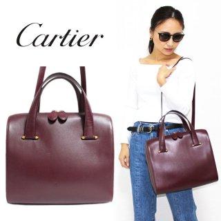 Cartier カルティエ ヴィンテージ<br>マストライン2WAYレザーハンド/ショルダーバッグ