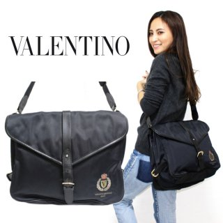 VALENTINO ヴァレンティノ ヴィンテージ<br>ナイロンメッセンジャーショルダーバッグ