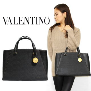 <img class='new_mark_img1' src='https://img.shop-pro.jp/img/new/icons14.gif' style='border:none;display:inline;margin:0px;padding:0px;width:auto;' />VALENTINO ヴァレンティノ ヴィンテージ<br>ロゴチャーム付レザーハンドバッグ