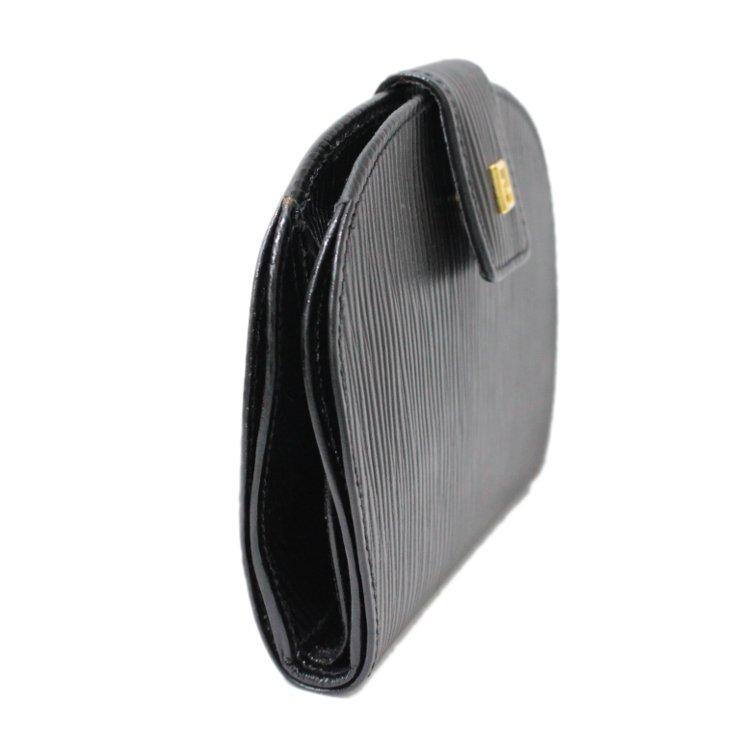 FENDI フェンディ ヴィンテージ<br>型押しレザー二つ折り財布
