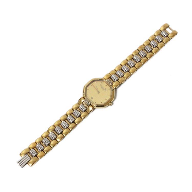 Dior ディオール ヴィンテージ<br>オクタゴンゴールドQZ腕時計 48.133