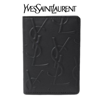 YSL イヴサンローラン ヴィンテージ<br>ロゴ総柄パスケース
