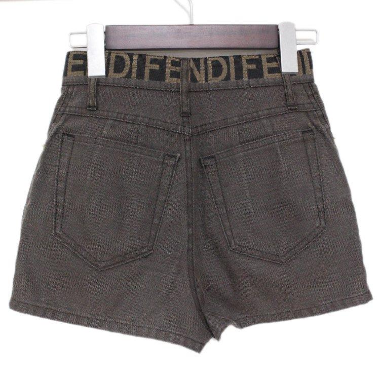 FENDI フェンディ ヴィンテージ<br>ロゴハイウエストデニムショートパンツ XS