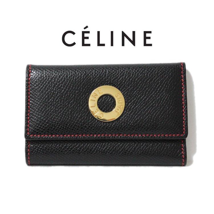 CELINE セリーヌ ヴィンテージ<br>サークルロゴ金具6連キーケース