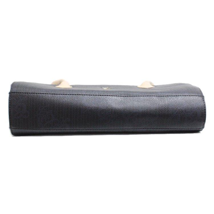 YSL イヴサンローラン ヴィンテージ<br>バイカラー総柄ロゴハンドバッグ