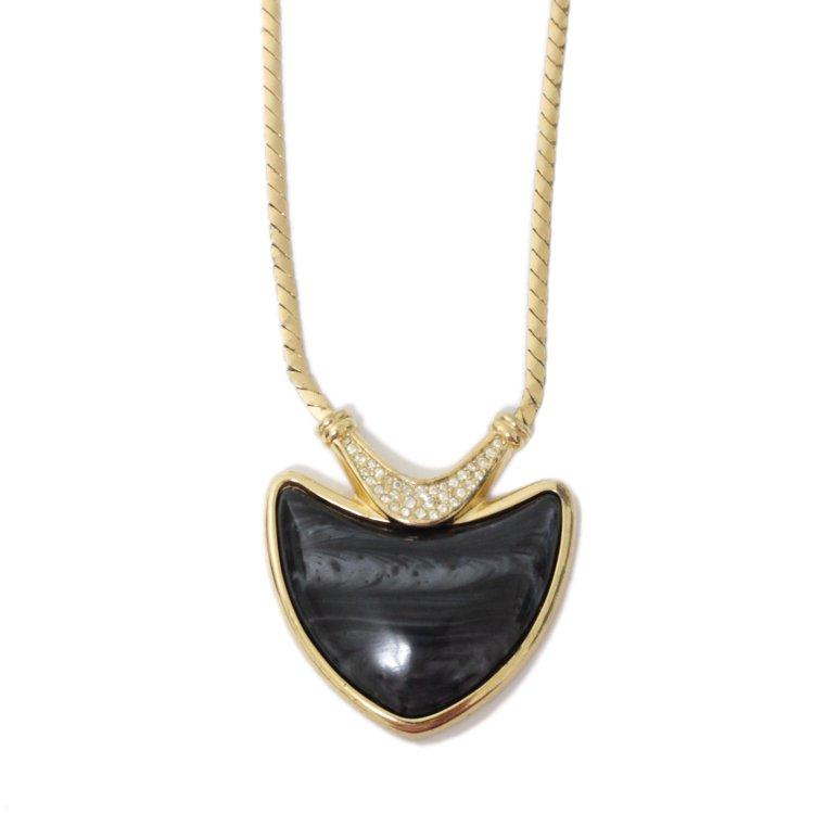 Dior ディオール ヴィンテージ<br>ブラックストーンネックレス