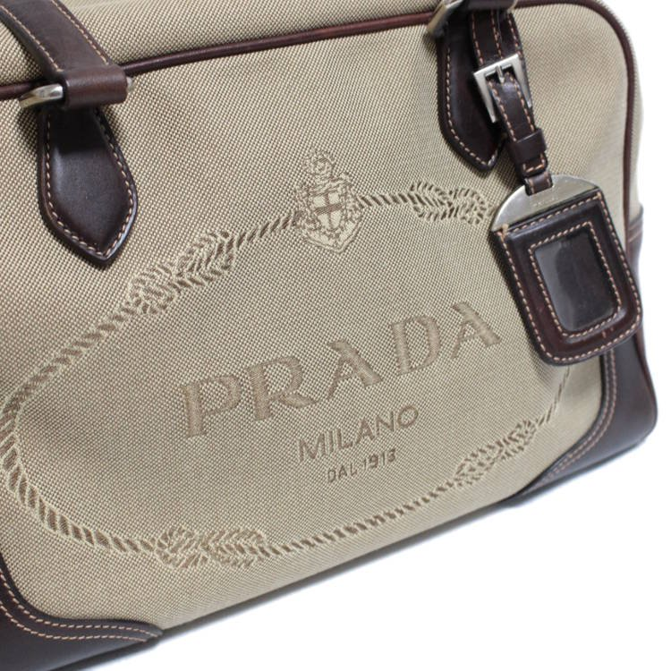 PRADA プラダ ヴィンテージ<br>ロゴジャガードボストンバッグ