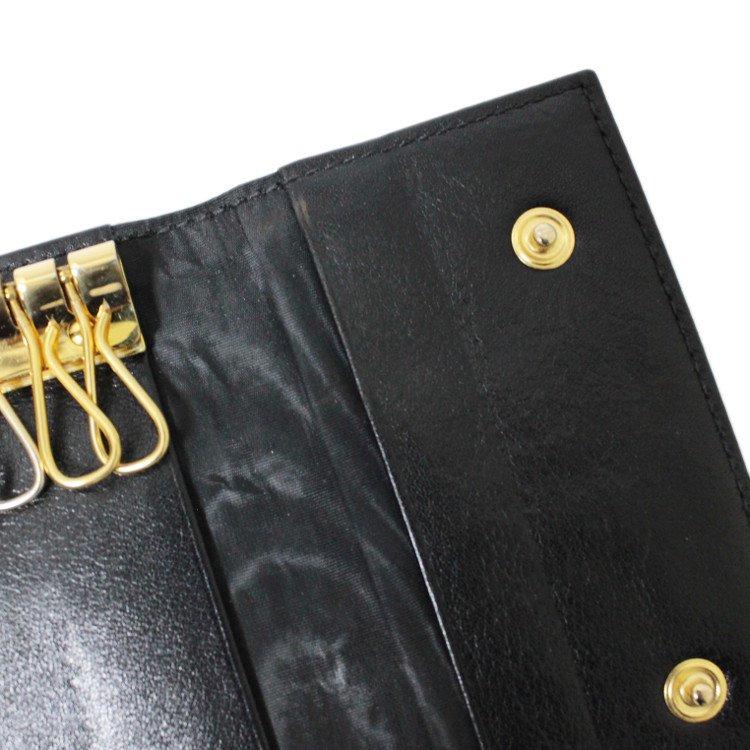 CHANEL シャネル ヴィンテージ<br>キャビアスキンココマーク6連キーケース