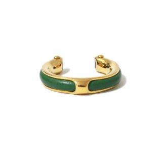 HERMES エルメス ヴィンテージ<br>ゴールド×レザーリング グリーン