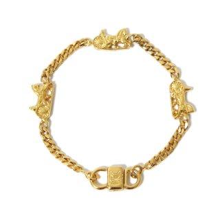 CELINE セリーヌ ヴィンテージ<br>ホースキャリッジチェーンブレスレット