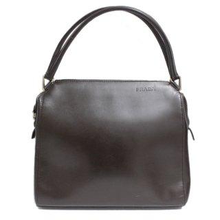 PRADA プラダ ヴィンテージ<br>レザーハンドバッグ ブラウン