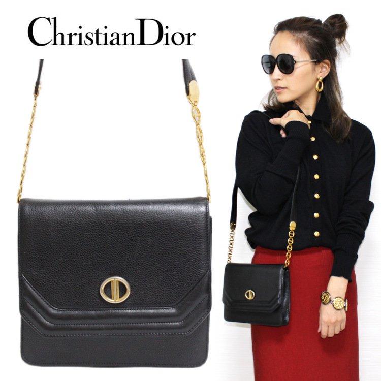 Dior ディオール ヴィンテージ<br>レザーチェーンショルダーバッグ