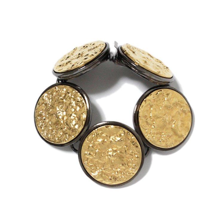 YSL イヴサンローラン ヴィンテージ<br>ゴールドサークルブレスレット