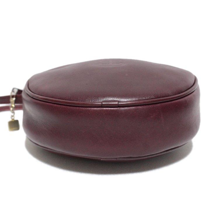 BALENCIAGA バレンシアガ ヴィンテージ<br>ラウンドショルダーバッグ ボルドー