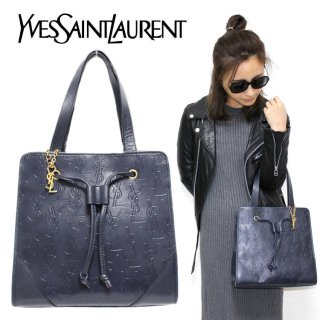 <img class='new_mark_img1' src='https://img.shop-pro.jp/img/new/icons14.gif' style='border:none;display:inline;margin:0px;padding:0px;width:auto;' />YSL イヴサンローラン ヴィンテージ<br>チャーム付ロゴ総柄トートバッグ