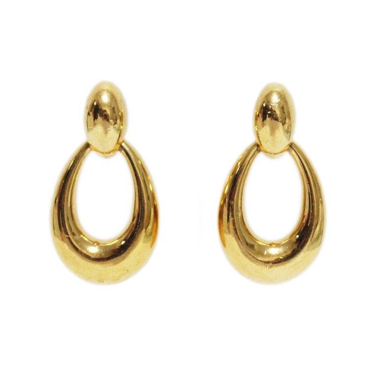 Dior ディオール ヴィンテージ<br>ゴールドフープデザインイヤリング