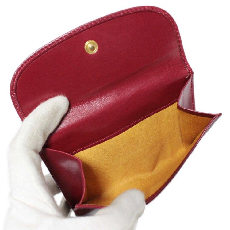 GUCCI グッチ ヴィンテージ<br>ハンドモチーフ二つ折り財布 レッド