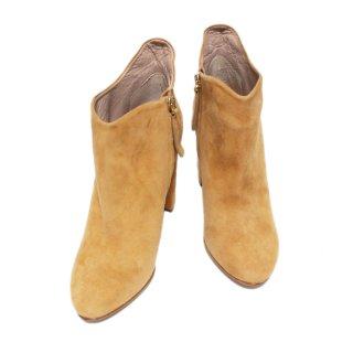 Chloe クロエ ヴィンテージ<br>スウェードショートブーツ ベージュ 36