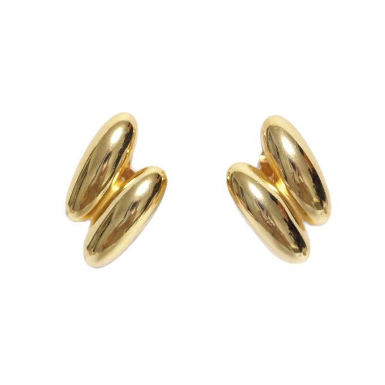 GIVENCHY ジバンシー ヴィンテージ<br>ゴールドデザインイヤリング