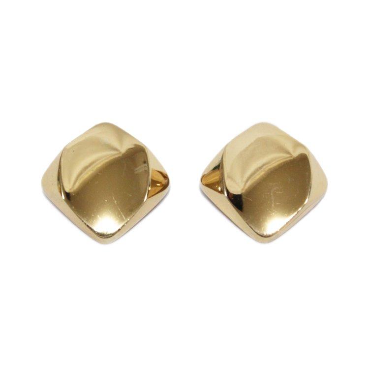 Dior ディオール ヴィンテージ<br>スクエアゴールドイヤリング