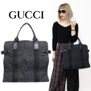 <img class='new_mark_img1' src='https://img.shop-pro.jp/img/new/icons14.gif' style='border:none;display:inline;margin:0px;padding:0px;width:auto;' />GUCCI グッチ ヴィンテージ<br>GGキャンバス×スタッズトートバッグ