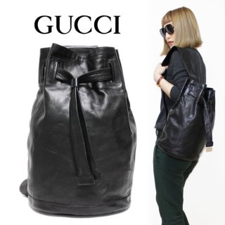 <img class='new_mark_img1' src='https://img.shop-pro.jp/img/new/icons14.gif' style='border:none;display:inline;margin:0px;padding:0px;width:auto;' />GUCCI グッチ ヴィンテージ<br>巾着レザーワンショルダーバッグ