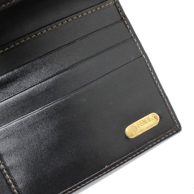 FENDI フェンディ ヴィンテージ<br>ペカン柄三つ折財布